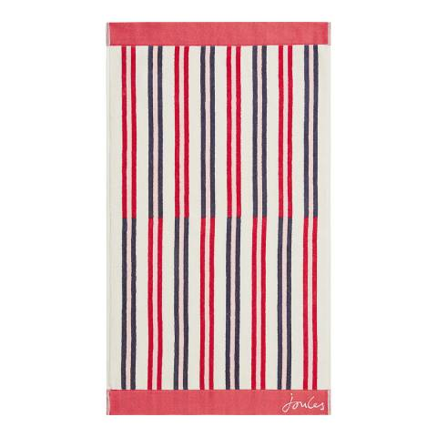 Joules Dawn Shadow Stripe Bath Sheet, Raspberry