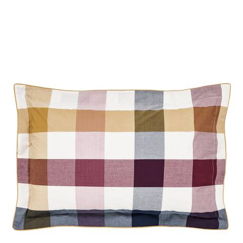 Joules Country Ramble Oxford Pillowcase, Plum