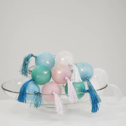 Christmas Magic Pastel Jolly Tassel String Lights