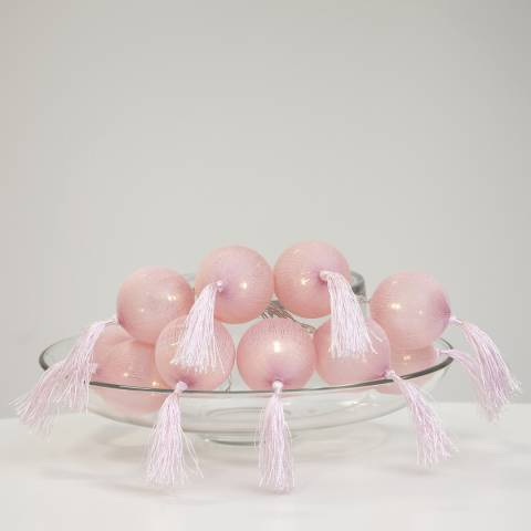 Lighting Editions Pink Jolly Tassel String Lights