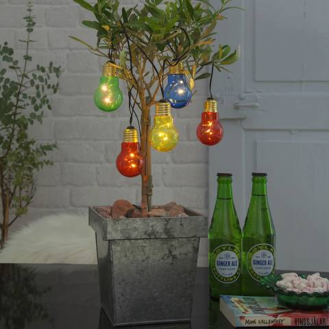 Lighting Editions Multi Coloured Light Bulb Chain