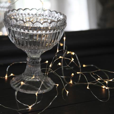 Christmas Magic Silver Dew Drop 40 String Lights