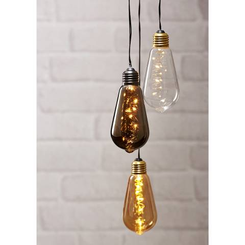 Christmas Magic Clear Glass Hanging Light bulb Decoration
