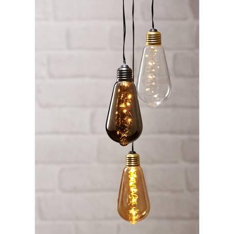 Christmas Magic Amber Hanging Light Bulb Decoration