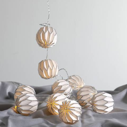 Lighting Editions White/Silver Origam String Lights