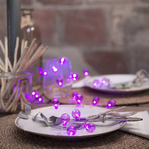 Christmas Magic Purple Outdoor Globe String Lights