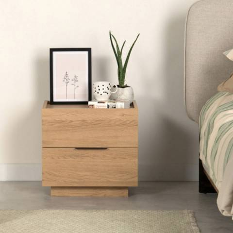 Vivense Luke Bedside Table, Oak