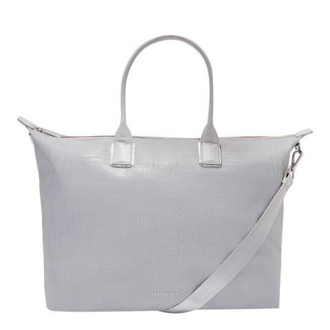 Ted Baker Silver Reflective Large Nylon Tote