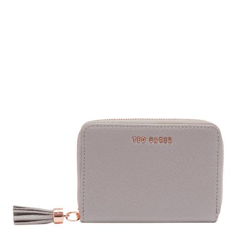 Ted Baker Charcoal Small Zip Around Purse