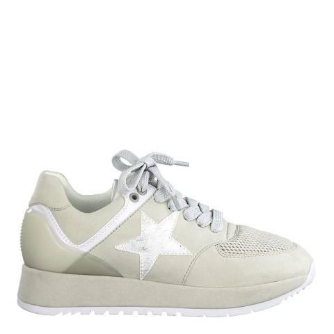 Jana Light Grey sport Lace Up Sneakers