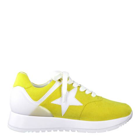 Jana Yellow Comb Sport Lace Up Sneakers