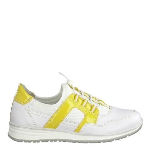 Jana Yellow Comb Softline Sneakers