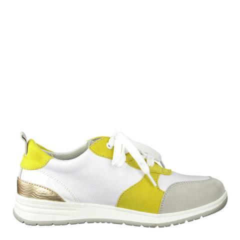 Jana Yellow Comb Low Top Sneakers