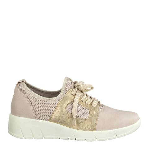 Jana Rose Comb Wedge Sole Sneakers