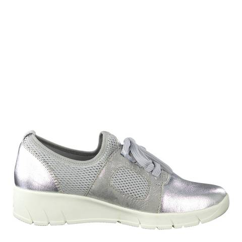 Jana Silver Comb Wedge Sole Sneakers