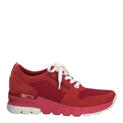 Jana Red Leather Sneakers
