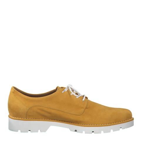 Jana Yellow Suede Brogue Shoes