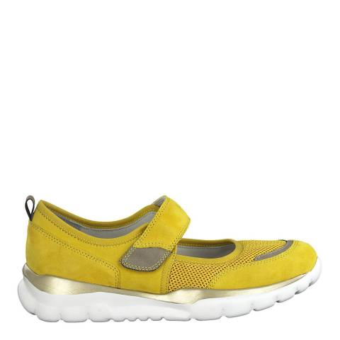 Jana Yellow Comb Slip On Trainers