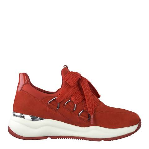Jana Red Sporty Lace Up Sneakers