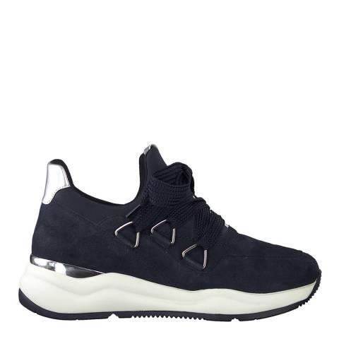 Jana Navy Sporty Lace Up Sneakers