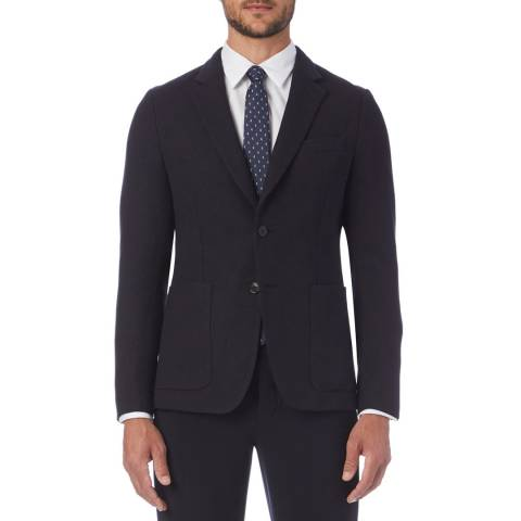 PAUL SMITH Black Tailored Fit Wool Suit Jacket