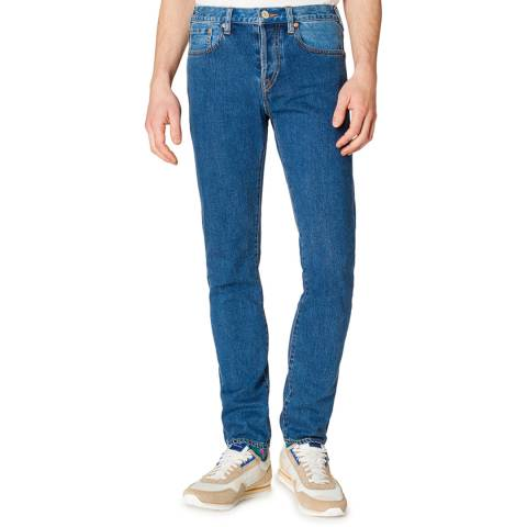 PAUL SMITH Blue Patch Standard Slim Jeans
