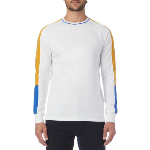 PAUL SMITH White Side Stripe Long Sleeve Top