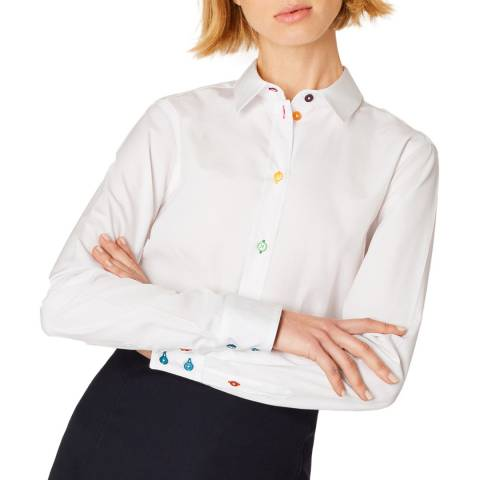 PAUL SMITH White Multi Button Cotton Shirt