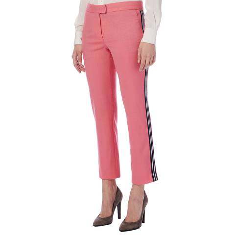 PAUL SMITH Pink Stripe Straight Trousers