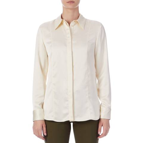 PAUL SMITH Cream Curved Back Hem Shirt