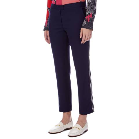 PAUL SMITH Navy Stripe Straight Trousers