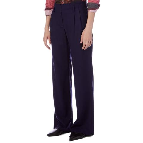 PAUL SMITH Navy Wide Wool Trousers