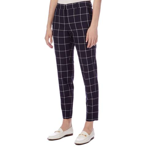 PAUL SMITH Navy Check Slim Trousers