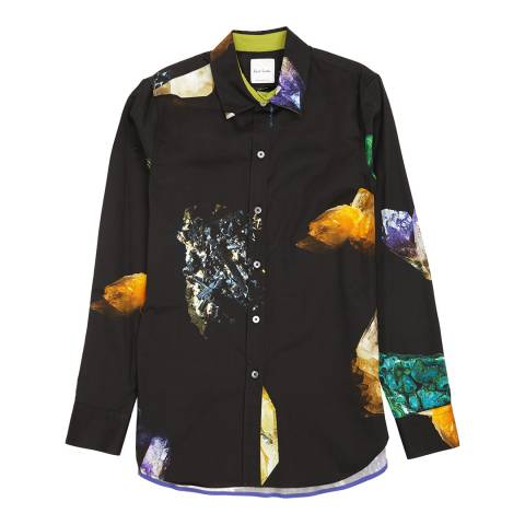 PAUL SMITH Black/Multi Kensington Cotton Shirt