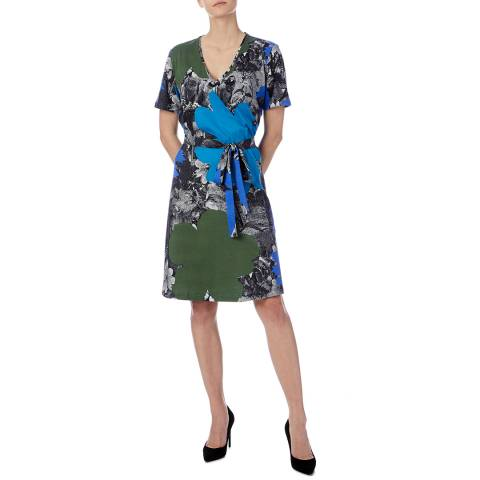 PAUL SMITH Blue/Multi Rainforest Wrap Dress
