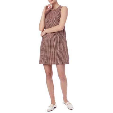 PAUL SMITH Orange/Multi Check Cotton Dress