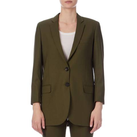 PAUL SMITH Khaki Longline Wool Blazer