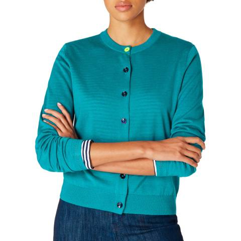 PAUL SMITH Teal Lightweight Knit Cardigan
