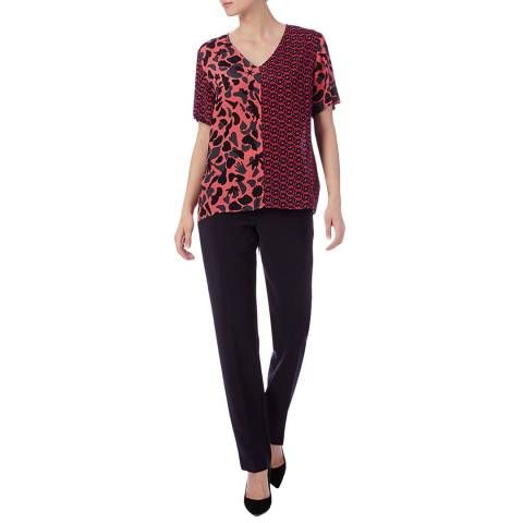 PAUL SMITH Coral/Red Print Top