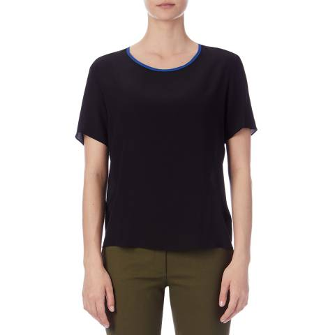 PAUL SMITH Black Relaxed Silk Top
