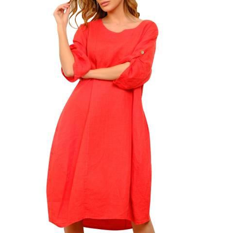 100% Linen Pink Summer Linen Dress