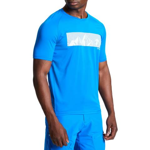 Dare2B Men's Athletic Blue Righteous II Tee