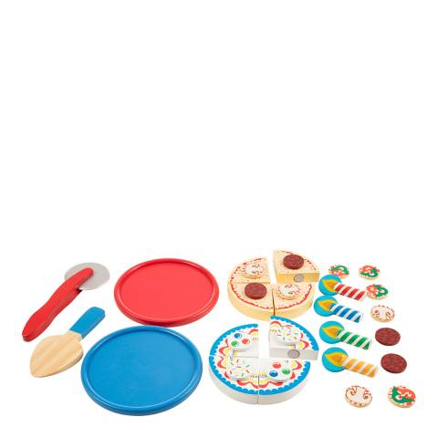 Melissa and Doug Wooden Pizza & Cake Play Set