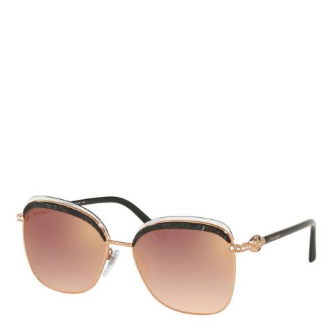 Bvlgari Women's Gold Bvlgari Sunglasses 57mm