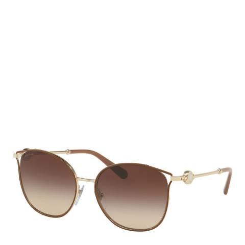 Bvlgari Women's Brown Sunglasses 55mm