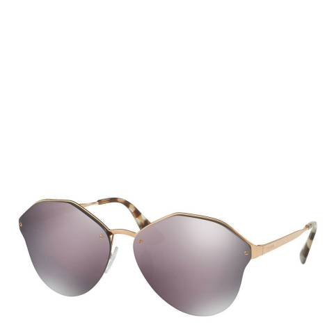 Prada Women's Gold/Purple Sunglasses 63mm