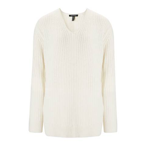 Baukjen Cream Devan V Neck Knit