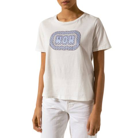 By Malina White Cotton Wow Tee