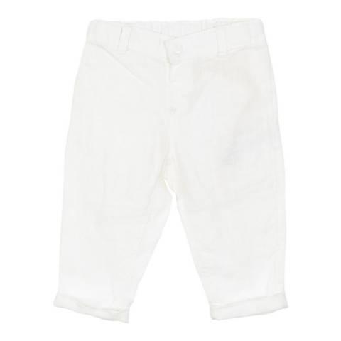 Petit Bateau Baby Boy's White Linen Trousers