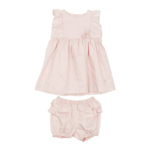 Petit Bateau Baby Girl's Pink Satin Dress